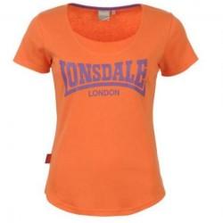 Dámské tričko Lonsdale 53 oranžové velikost S