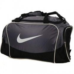 Sportovní taška Nike Brasilia šedá střední